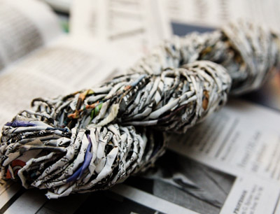 Newspaper yarn