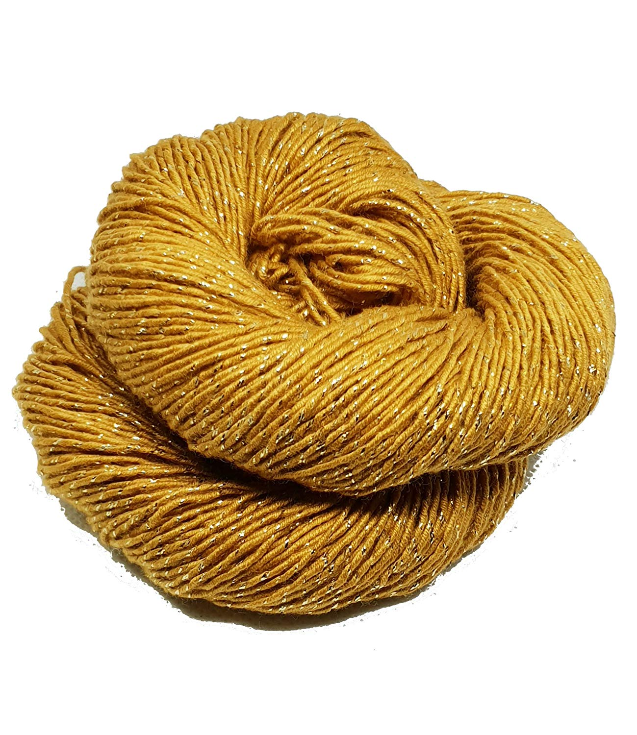 Mulberry silk with banana fiber and glimmer