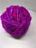 Recycled sari silk bulky purple