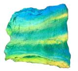 Silk Cocoon Sheet green-blue-yellow
